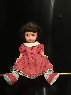 Madame Alexander Doll With Red Dress