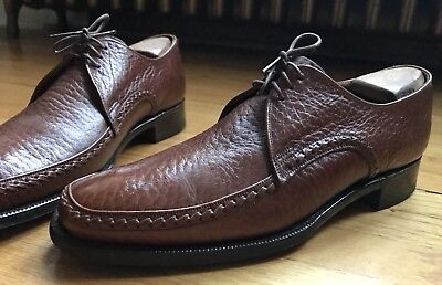 Church's for Dack Bond Street Custom Grade Exotic Antelope Brown Derby Shoes 8.5