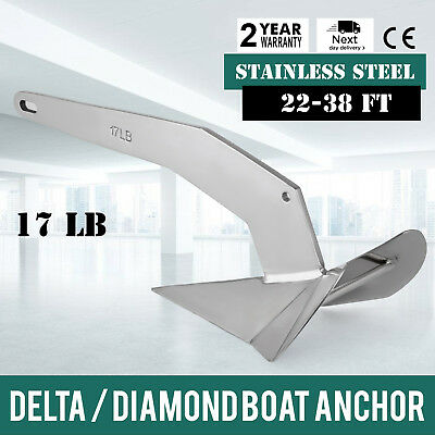 Delta / Diamond Boat Anchor 17LB 7.7Kg new 6.7-11.6m 316 Stainless Steel GREAT