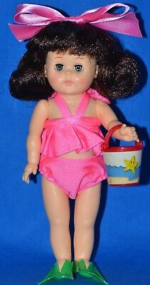 "Vogue Ginny Doll in ""Beach"" Outfit, Flippers and Bucket"