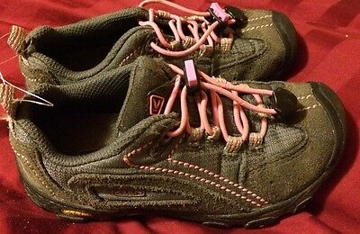Keen Shoes Girls Size 12 Gray & Pink Youth Hiking Trail