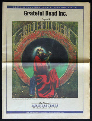 San Francisco Business Times RARE 1995 Newspaper - Grateful Dead Blues for Allah
