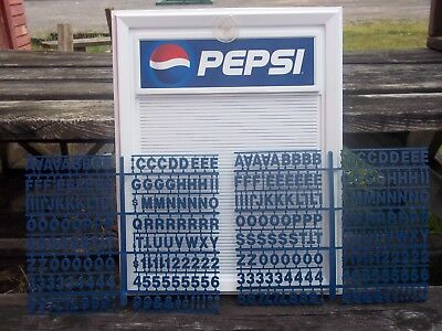 L@@K!  Pepsi-Cola Countertop Menu Board w/2 sets of letters & numbers!