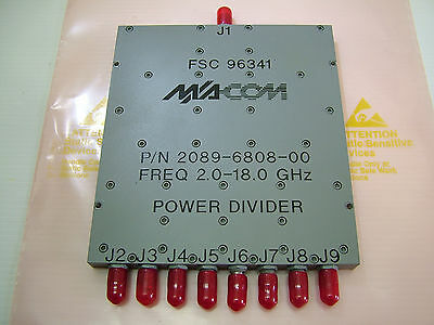 2 - 18GHz 8 way Isolated Power divider Wilkinson M/A-COM 2089-6808-00/N