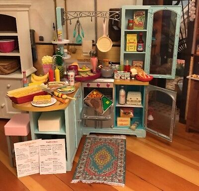 Huge American Girl Food Lot-Filled W/Adorable Items-1 Of A Kind Lot-L@@K