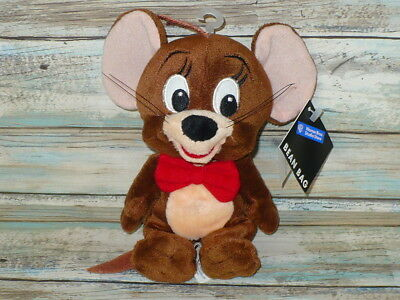 Tom & Jerry JERRY MOUSE Warner Bros Studio BEAN BAG Plush Stuffed Animal 8""