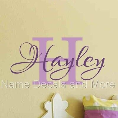 Girls Name Vinyl Wall Decal Nursery Monogram Personalized Sticker Bedroom Room