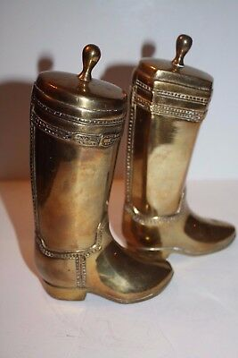 """Solid Gold Brass 8"""" Riding Boots Bookends"""
