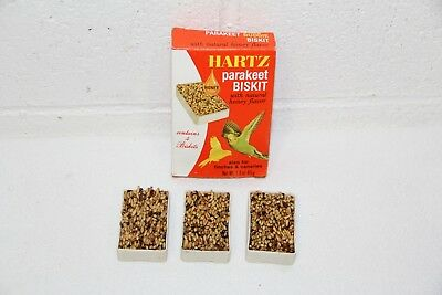 Vtg HARTZ Mountain Parakeet Finch Canary Honey Biskits Biscuits 3 Total in Box