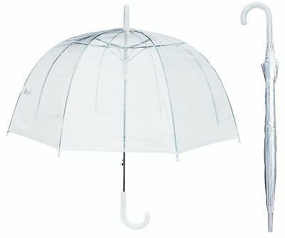 "Lot of 12 - 46"" Arc Clear Full Dome Umbrella - RainStoppers Rain, Bubble Fashion"