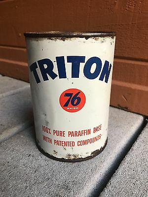 Vintage Triton 76 Motor Oil Can 1 Quart Empty Union Oil Company
