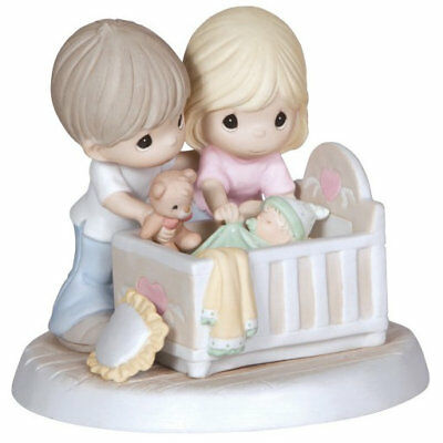 Parents Baby Precious Moments Figurine We're Glad You Came Into Our Lives NWOB