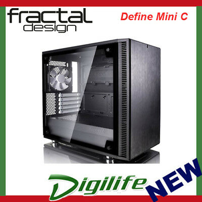 Fractal Design Define Mini C ATX Case Tempered Glass Edition