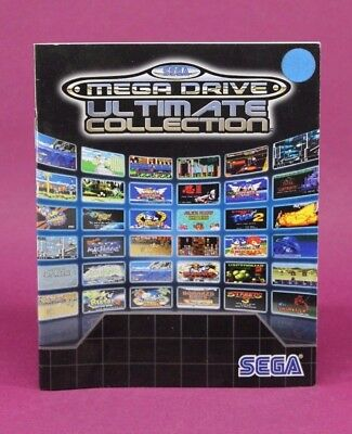 Instruction Booklet Only For Mega Drive Ultimate Collection Ps3 (No Game) 😎