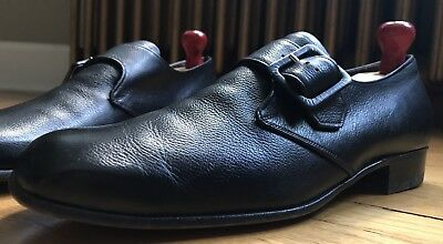Cheaney for Hudsons Bay Company Black Monk Strap Loafer Shoes 9D Made in England