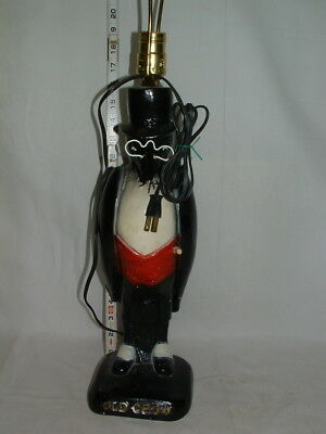 1950s OLD CROW BOURBON WHISKEY ADVERTISING 18 IN.TALL PLASTER FIGURE LAMP  # 16