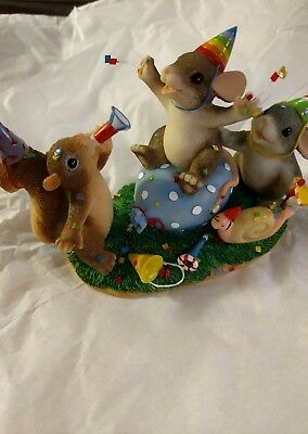 """Charming Tales """" Party Animals"""" By Fitz And Floyd"""