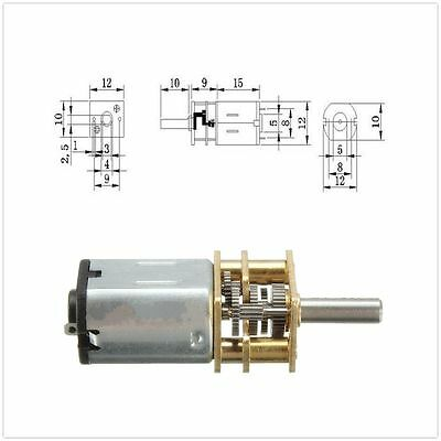 DC 12V 300RPM Mini Elektrisches Metall-Getriebemotor N20 3mm Wellen-Kasten-Motor