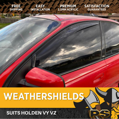 Superior Weathershields for Holden Commodore VY VZ Window Visors Weather Shields