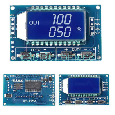 Signal Generator PWM Pulse Frequency Duty Cycle Adjustable Module LCD Display CA