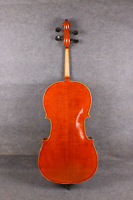 Cello Flame Maple Spruce 4/4 bag Bow Rosin Master Level Hand carve Yinfente #601