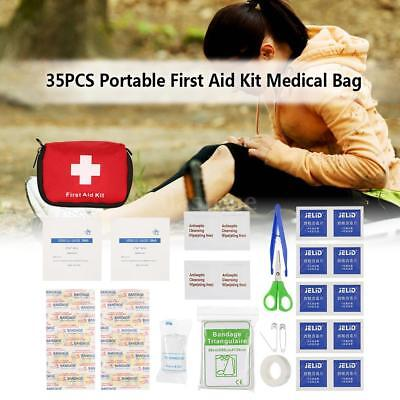 35PCS Outdoor Travel Medical First Aid Kits Pouch MOLLE System Utility Bag S0S3