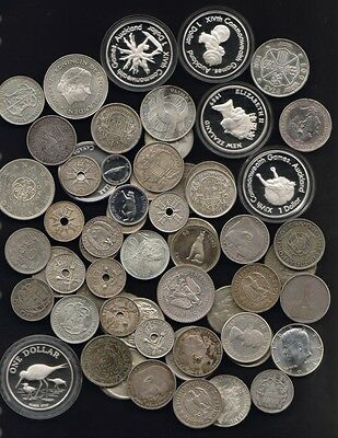 SILVER  World Coins  (assorted) - 20oz actual SILVER content