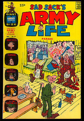 Sad Sack's Army Life Parade #37 High Grade Harvey File Copy Giant 1971 VF-NM