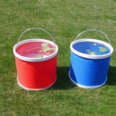 Folding Collapsible Bucket Barrel Water Container Car Washing Outdoor Use GX