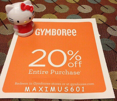 Gymboree 20% Off Entire Purchase Expires 10/31/17
