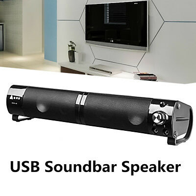 2 In1 Sound Bar USB Speaker For Computer PC Desktop Laptop Soundbar Video System