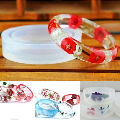 1PC Clear Round Silicone Bangle Mould For DIY Resin Curve Bracelet Jewelry Mold