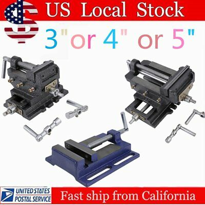 "Cross Slide Vise 3/4/5"" Wide Drill Press  X-Y Clamp Milling Heavy Duty 2 Way SK"