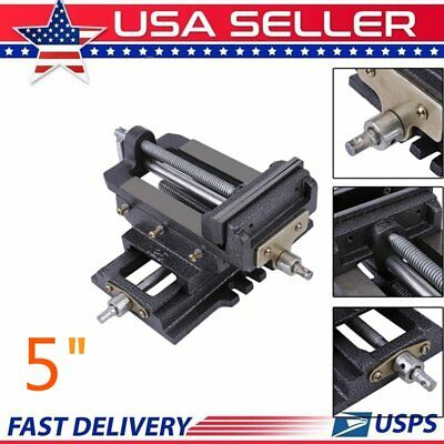 "5"" CROSS SLIDING DRILL PRESS VISE SLIDE VICE HEAVY DUTY MACHINE SHOP Tools US SK"