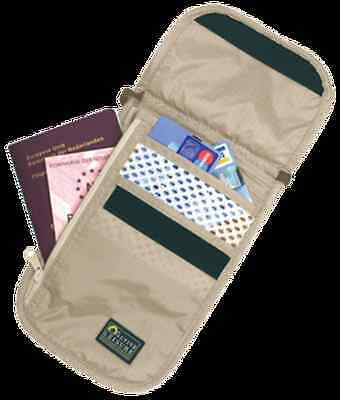 Pochette Tour de Cou Check Out Beige TRAVEL SAFE neuve