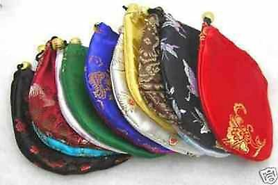 5pcs China Silk Jewelry Pouches - free shipping