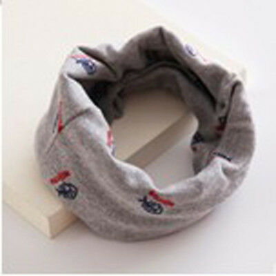 Baby Kids Child Boy Girl Star Pattern Scarves Neck Wrap Scarf Neckerchief Gray
