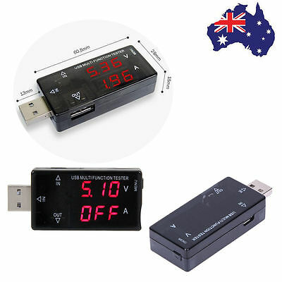 LCD Display USB Tester 3V-30V Mini Current Voltage Charger Tester Multifunction