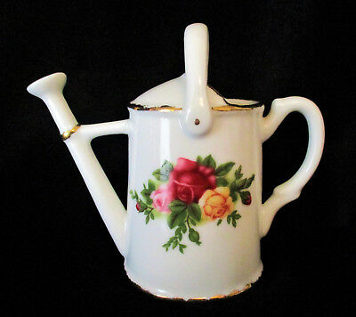 "ROYAL ALBERT  ""Old Country Roses""  Watering Can   Excellent Condition"