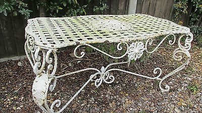 Vintage ornate table wrought iron