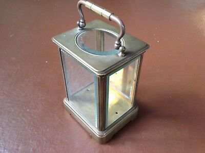 Antique Brass And Glass Carriage Clock Case In Excellent All Round Condition