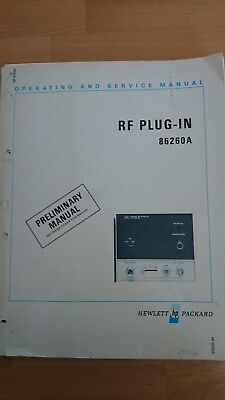 HP86260A RF_PLUG_IN 12.4 bs 18GHz Operating a Service Manual Bedienungsanleitung