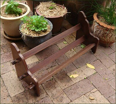 Antique Arts&Crafts Book Stand Rack Pegged Joints