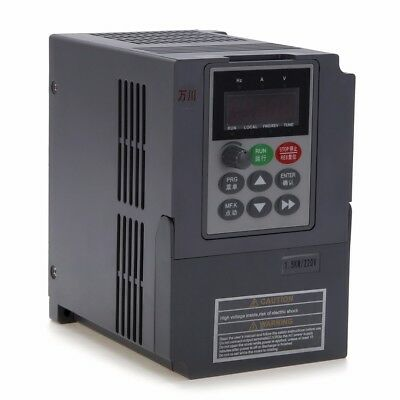 7A 3PH Frequenzumrichter Variable Frequency Driver Inverter VFD 1,5KW 220V