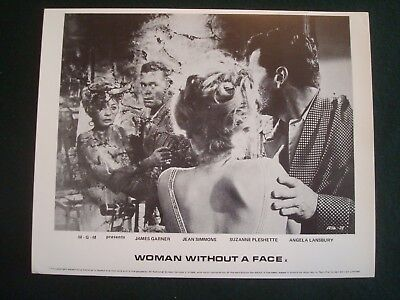 JEAN SIMMONS FILM LOBBY CARDS 10 x 8 - MGM WOMAN WITHOUT A FACE SET of 8 B & W