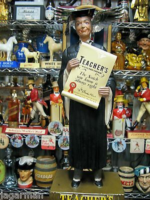 Teachers Scotch  Whisky Advertising Figure Statue Great Condition With Box
