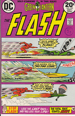 THE FLASH #223 [FN+] 1973 + GREEN LANTERN {DC Comic}