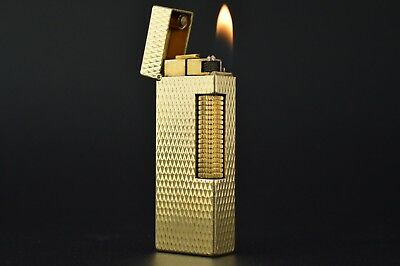 Dunhill Lighter Rollagas Serviced Working Vintage New O-rings Switzerland #562