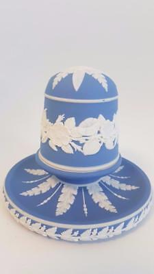 Never Seen Before C1880 Wedgwood Mid Mid-Blue Jasper Ware Covered Match Striker