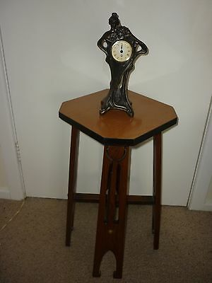 Octagonal Oak Table & Stand(Lamp,statue,vase Etc) Very Rare  Real Deco Piece